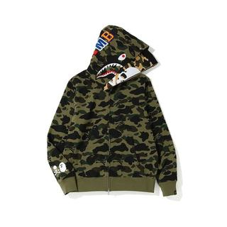 A BATHING APE - BAPE A BATHING APE パーカー Mサイズ グリーン