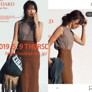 mother - 値下げ forme ノースリーブtee 東原亜希 Tee MOTHER Tシャツ