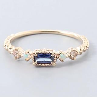 miroir ミロア K10ゴールド タンザナイト・オパールリング(リング(指輪))