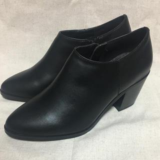Mila Owen - import アンクル丈ブーツ 黒スムース 23.0