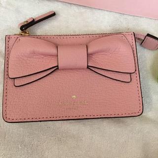 ケイトスペードニューヨーク(kate spade new york)の新品 ケイトスペード コインケース リボン かわいい ピンク(コインケース)