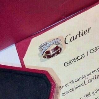 カルティエ(Cartier)のCARTIER カルティエ 指輪 スクロールラベルリング ラージ 美品(リング(指輪))