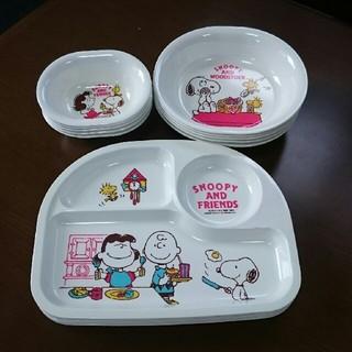 スヌーピー(SNOOPY)のスヌーピー  プラスチック皿セット(食器)