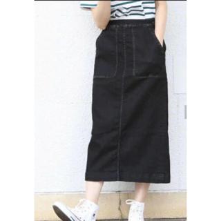 コーエン(coen)の新品☆coen 人気完売 デニムストレッチタイトロングスカート☆ブラック色 S(ロングスカート)