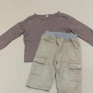 ムジルシリョウヒン(MUJI (無印良品))の無印 80cm 2点セット(パンツ)