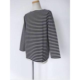コモリ(COMOLI)のCOMOLI コモリ ボーダーボートネックカットソー  M01-05004 2(Tシャツ/カットソー(七分/長袖))