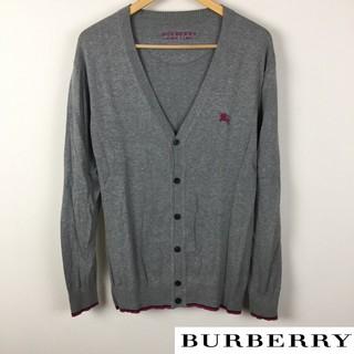 バーバリーブラックレーベル(BURBERRY BLACK LABEL)の美品 BURBERRY BLACK LABEL 長袖カーディガン グレー(カーディガン)