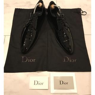 ディオールオム(DIOR HOMME)のディオールオム エナメルレザーシューズ ブラック サイズ41(ドレス/ビジネス)