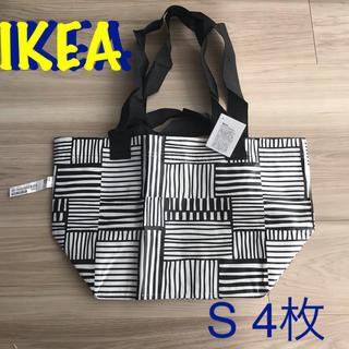 イケア(IKEA)の新品 IKEA  バッグ イケア 白 黒 フィスラ S 4枚(エコバッグ)