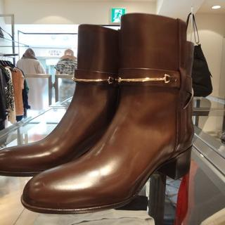 ドゥーズィエムクラス(DEUXIEME CLASSE)の【新品・未使用】SARTORE ショートブーツ 37 ブラウン(ブーツ)