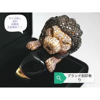 ブランド刻印有☆総計4.50ct!ダイヤ&K18YGリング☆15号itk-vui(リング(指輪))