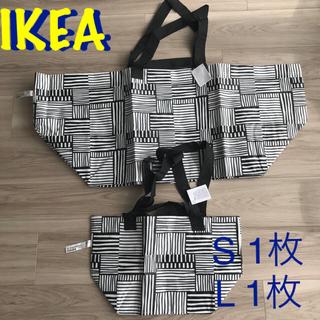 イケア(IKEA)の新品 IKEA  イケア 白黒 フィスラ SL 2枚セット(エコバッグ)