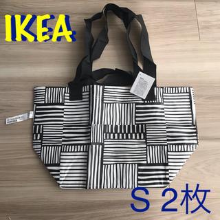 イケア(IKEA)の新品 IKEA  イケア 白黒 フィスラ S 2枚セット(エコバッグ)