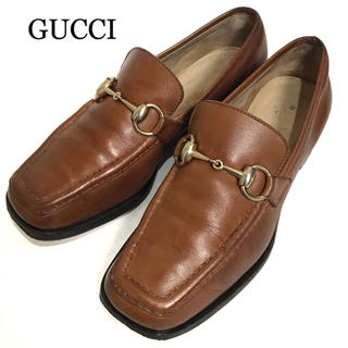 グッチ(Gucci)の【GUCCI】グッチ 約21.5cm ホースビットローファー ブラウン 革靴(スリッポン/モカシン)