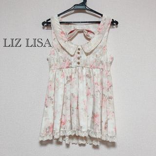 リズリサ(LIZ LISA)の【未使用】LIZLISA 花柄バックリボンチュニック(チュニック)