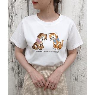 ワンアフターアナザーナイスクラップ(one after another NICE CLAUP)のNICECLAUP♡アソートプリントTシャツ(Tシャツ(半袖/袖なし))