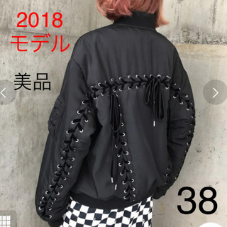 G.V.G.V. - 【美品】g.v.g.v. MA-1 ブラック 38  gvgv