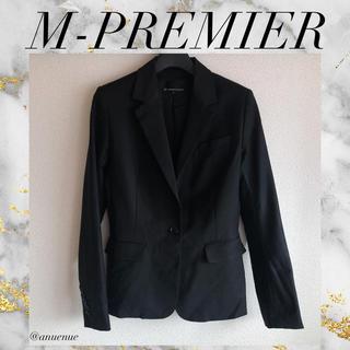 エムプルミエ(M-premier)のM-PREMIER ジャケット 裏地付き オフィス 通勤 きれいめ 上品(テーラードジャケット)