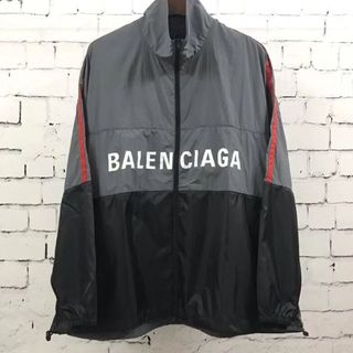 バレンシアガ(Balenciaga)のBALENCIAGA ジップ ナイロン ロゴ ジャケット 40(ナイロンジャケット)