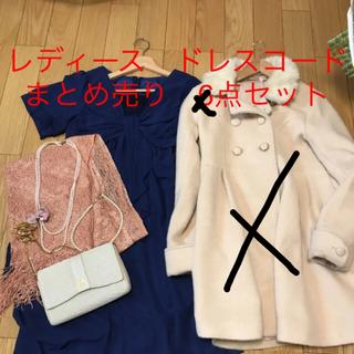 ハナエモリ(HANAE MORI)のレディース ドレスコード フルコーディネート 6点まとめ売り (ミディアムドレス)