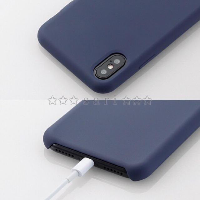 ELECOM(エレコム)のiPhoneX/XS 3層構造 【ブルー】 ハイブリッドケース シリコンケース スマホ/家電/カメラのスマホアクセサリー(iPhoneケース)の商品写真