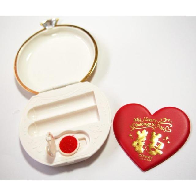 Disney(ディズニー)のミッキー指輪型印鑑ケース3点セット エンタメ/ホビーのおもちゃ/ぬいぐるみ(キャラクターグッズ)の商品写真