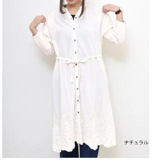 ハートマーケット(Heart Market)の裾スカラップ刺繍ワンピース(ひざ丈ワンピース)