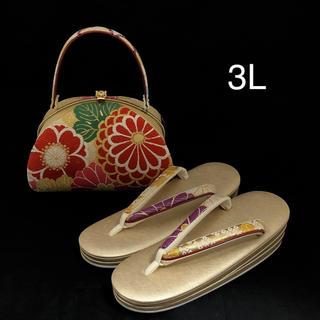 草履バッグ セット 3Lサイズ (新品) #669(下駄/草履)
