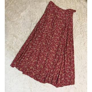 ローラアシュレイ(LAURA ASHLEY)のローラアシュレイ ロングスカート、赤色ボルドー(ロングスカート)