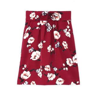 プロポーションボディドレッシング(PROPORTION BODY DRESSING)の新品♡定価9570円 水彩画のようなスカート  サイズ1  ボルドー 大特価‼️(その他)