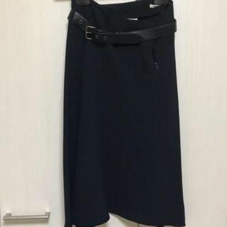 ミュウミュウ(miumiu)のミュウミュウ スカート 黒サイズ38 値下げ(ひざ丈スカート)