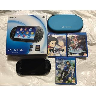 PlayStation Vita - psvitaセット ソフト4本、メモリ2枚、ケース付き