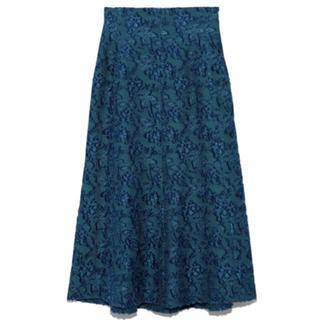 フレイアイディー(FRAY I.D)の麻混ジャガードスカート(ロングスカート)
