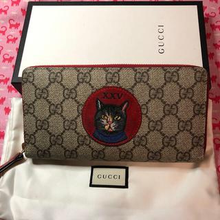 グッチ(Gucci)のグッチ(GUCCI)⭐️長財布 猫 GGスプリーム ウォレット(財布)
