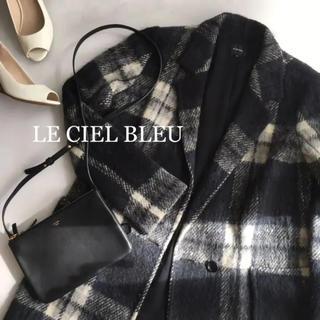 ルシェルブルー(LE CIEL BLEU)の美品 ルシェルブルー コート アウター チェック 38(チェスターコート)