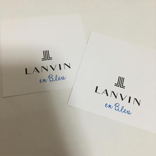 ランバンオンブルー(LANVIN en Bleu)のランバンオンブルー  ハンカチ ギフト 袋 2枚組(ショップ袋)