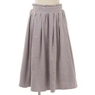 リズリサ(LIZ LISA)のレディース  チュールスカート ミモレ丈スカート グレー LIZLISA 新品(ひざ丈スカート)