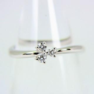 タサキ(TASAKI)のTASAKI/タサキ K18WG ダイヤモンド リング 7.5号[f64-9](リング(指輪))
