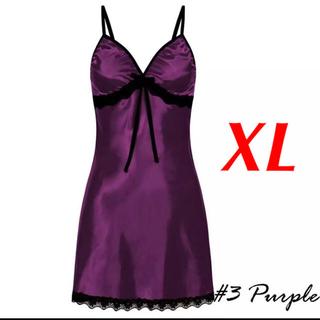 新品 即購入OK 2L XL ベビードール セクシー ランジェリー パープル(ルームウェア)