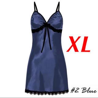 新品 即購入OK 2L XL ベビードール セクシー ランジェリー ブルー(ルームウェア)