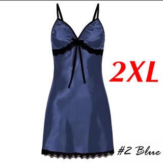 新品 即購入OK 3L 2XL ベビードール セクシー ランジェリー ブルー(ルームウェア)