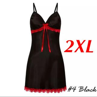 新品 即購入OK 3L 2XL ベビードール セクシー ランジェリー ブラック(ルームウェア)