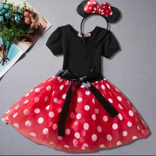 Disney - なりきりミニー ワンピース  衣装 仮装 110