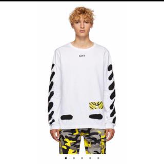 オフホワイト(OFF-WHITE)のoff-white ホワイトスプレーペイントシャツ(シャツ)