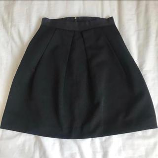 バーニーズニューヨーク(BARNEYS NEW YORK)のドレステリア スカート 36 ブラック フォーマル プリーツ ボックス(ひざ丈スカート)