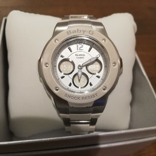ベビージー(Baby-G)のCASIO Baby-G アナデジ ホワイト MSG-300C-7B3JF  (腕時計(デジタル))