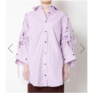ルシェルブルー(LE CIEL BLEU)のIRENE rollup sleeve stripe shirt(シャツ/ブラウス(長袖/七分))