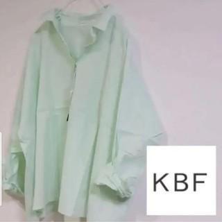 ケービーエフ(KBF)の新品 KBF シャツ  ミント(シャツ/ブラウス(長袖/七分))