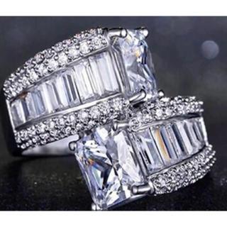 ✨定価6280円✨ クロムシルバーブルーサファイア スーパーCZダイヤモンド(リング(指輪))