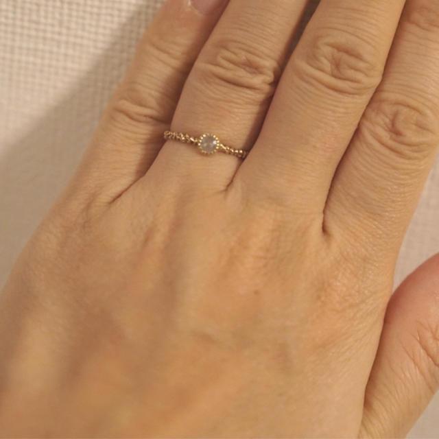 KAORU(カオル)の【Ikue Nakayasu様お取り置き】KAORU K10ダイヤモンドリング レディースのアクセサリー(リング(指輪))の商品写真